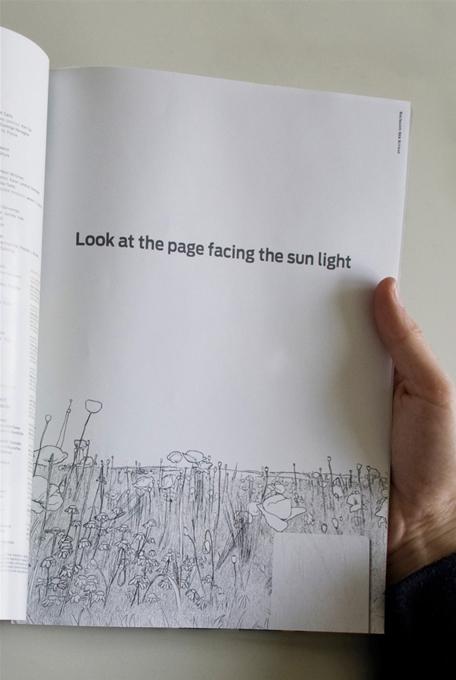 とっても素敵なアイデア!太陽を浴びると変化する広告