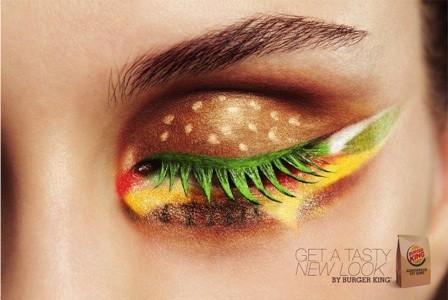 アイシャドウでハンバーガー。オランダのバーガーキングの広告