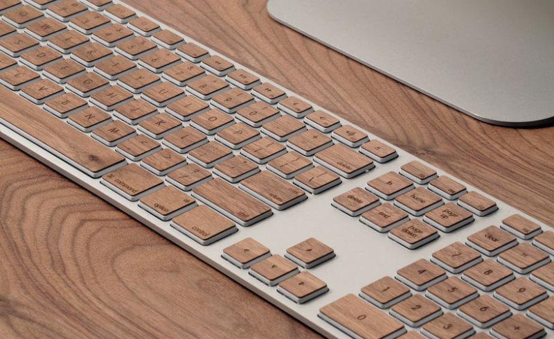 木目のキーボード-1